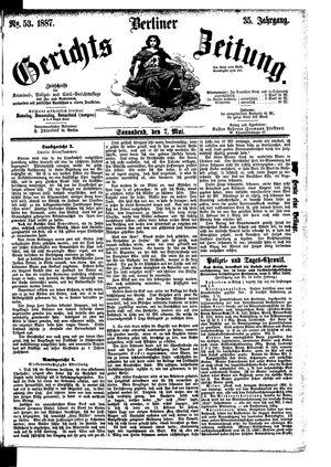 Berliner Gerichts-Zeitung vom 07.05.1887