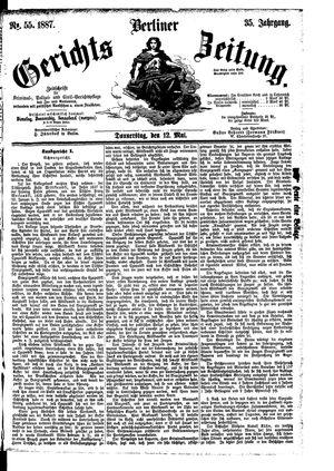 Berliner Gerichts-Zeitung vom 12.05.1887