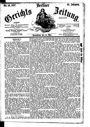 Berliner Gerichts-Zeitung vom 14.05.1887