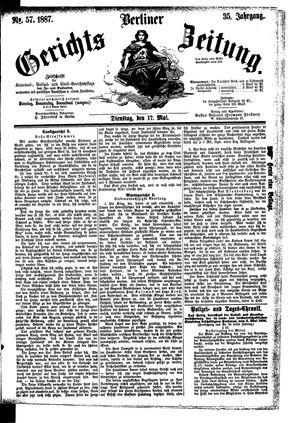 Berliner Gerichts-Zeitung vom 17.05.1887