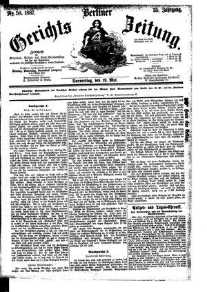Berliner Gerichts-Zeitung on May 19, 1887