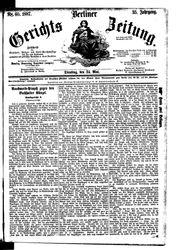 Berliner Gerichts-Zeitung (24.05.1887)