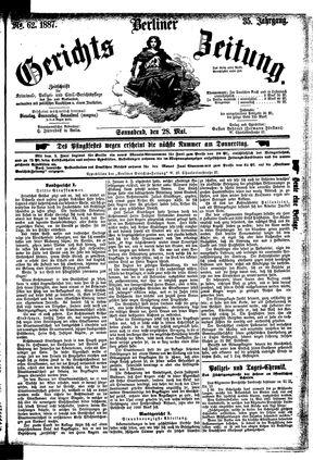 Berliner Gerichts-Zeitung vom 28.05.1887