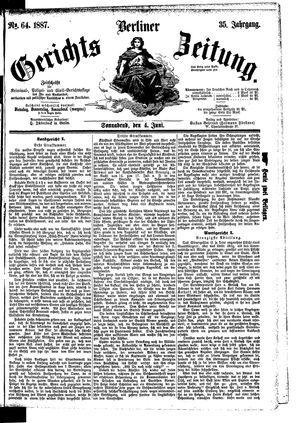 Berliner Gerichts-Zeitung vom 04.06.1887
