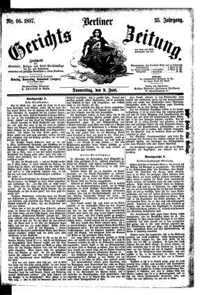 Berliner Gerichts-Zeitung vom 09.06.1887