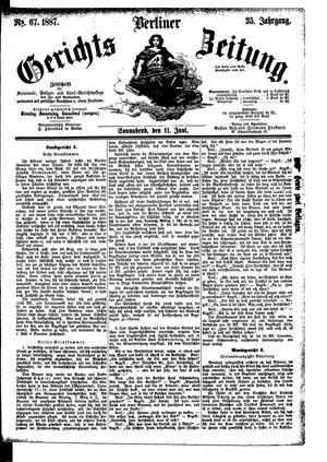 Berliner Gerichts-Zeitung vom 11.06.1887
