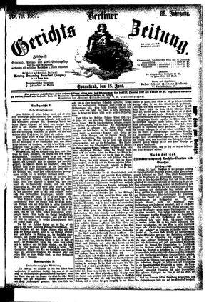 Berliner Gerichts-Zeitung vom 18.06.1887