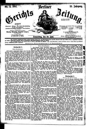 Berliner Gerichts-Zeitung vom 23.06.1887