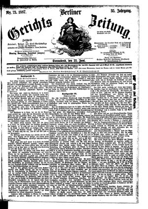 Berliner Gerichts-Zeitung vom 25.06.1887