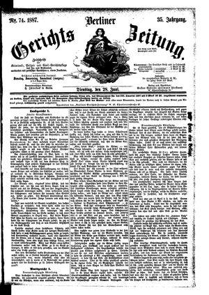Berliner Gerichts-Zeitung vom 28.06.1887