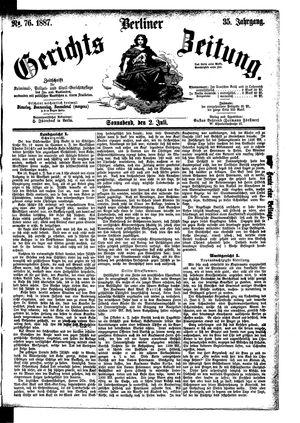 Berliner Gerichts-Zeitung vom 02.07.1887