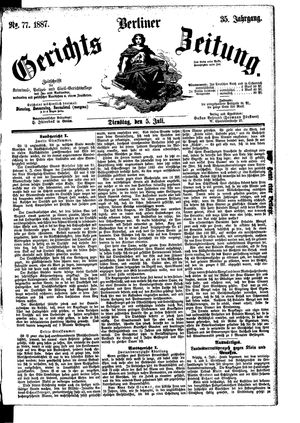 Berliner Gerichts-Zeitung vom 05.07.1887