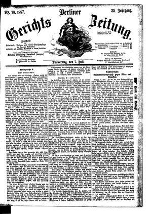 Berliner Gerichts-Zeitung vom 07.07.1887
