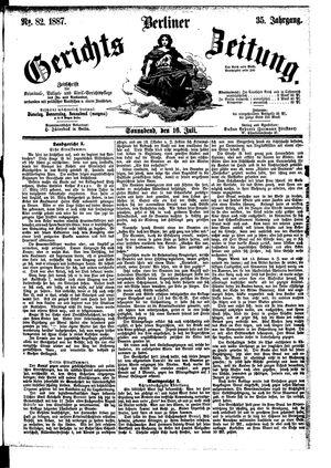 Berliner Gerichts-Zeitung vom 16.07.1887