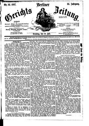 Berliner Gerichts-Zeitung vom 19.07.1887