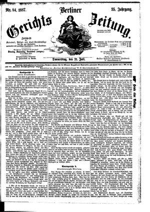 Berliner Gerichts-Zeitung vom 21.07.1887