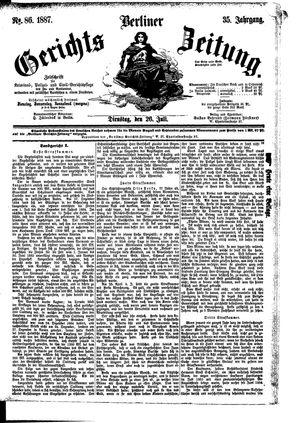 Berliner Gerichts-Zeitung vom 26.07.1887
