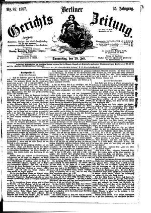 Berliner Gerichts-Zeitung vom 28.07.1887