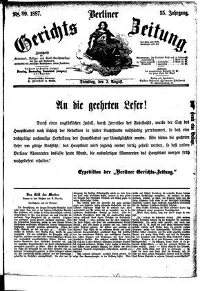 Berliner Gerichts-Zeitung vom 02.08.1887