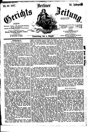 Berliner Gerichts-Zeitung vom 04.08.1887