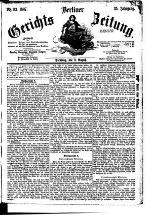 Berliner Gerichts-Zeitung vom 09.08.1887