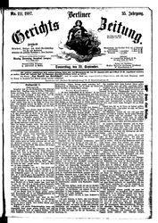 Berliner Gerichts-Zeitung (22.09.1887)
