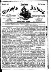 Berliner Gerichts-Zeitung (22.09.1888)