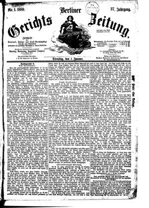 Berliner Gerichts-Zeitung vom 01.01.1889