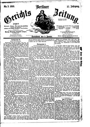 Berliner Gerichts-Zeitung on Jan 5, 1889