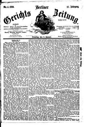 Berliner Gerichts-Zeitung vom 08.01.1889