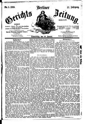 Berliner Gerichts-Zeitung vom 10.01.1889