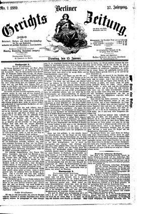 Berliner Gerichts-Zeitung vom 15.01.1889