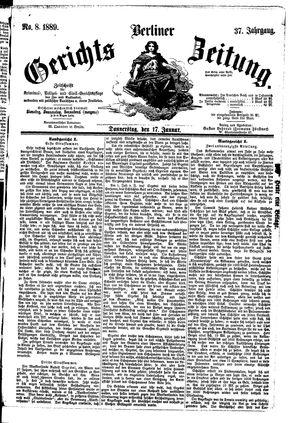 Berliner Gerichts-Zeitung vom 17.01.1889