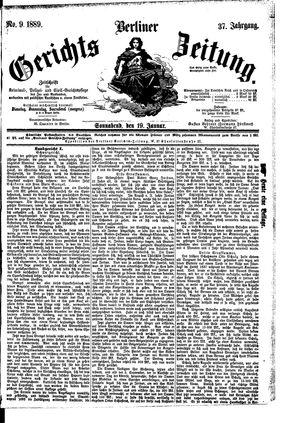 Berliner Gerichts-Zeitung vom 19.01.1889