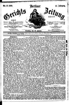 Berliner Gerichts-Zeitung vom 22.01.1889