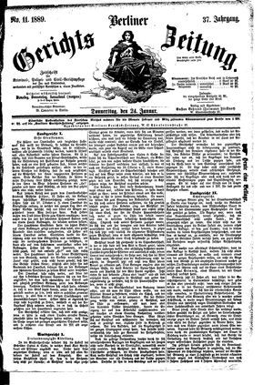 Berliner Gerichts-Zeitung vom 24.01.1889