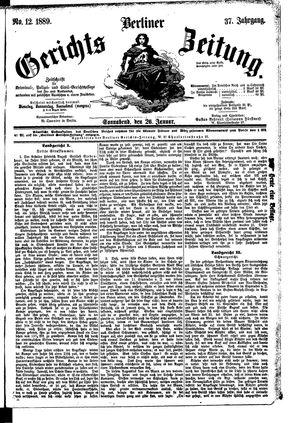 Berliner Gerichts-Zeitung vom 26.01.1889