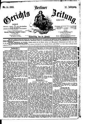 Berliner Gerichts-Zeitung on Jan 31, 1889