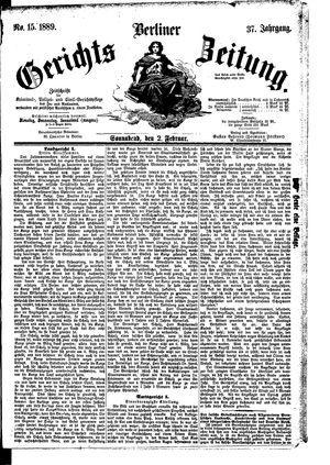 Berliner Gerichts-Zeitung on Feb 2, 1889