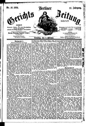 Berliner Gerichts-Zeitung vom 05.02.1889