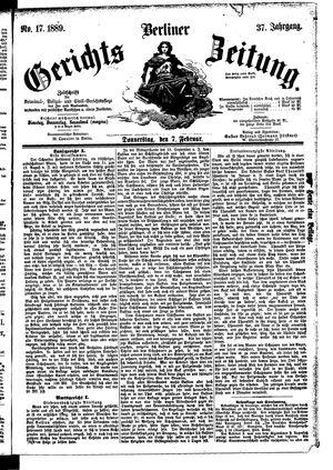 Berliner Gerichts-Zeitung vom 07.02.1889