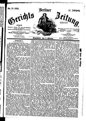 Berliner Gerichts-Zeitung on Feb 9, 1889