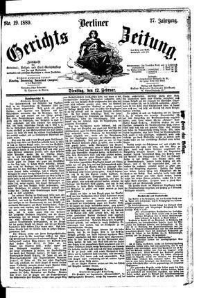 Berliner Gerichts-Zeitung vom 12.02.1889