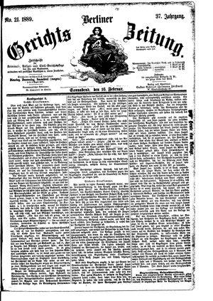 Berliner Gerichts-Zeitung vom 16.02.1889