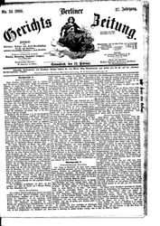Berliner Gerichts-Zeitung (23.02.1889)