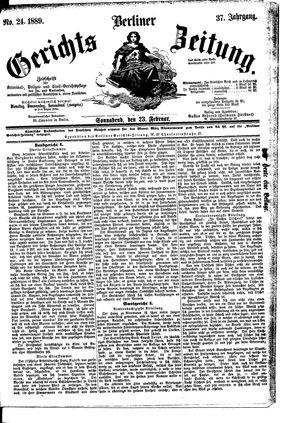 Berliner Gerichts-Zeitung on Feb 23, 1889