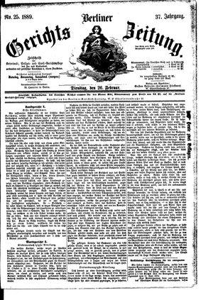 Berliner Gerichts-Zeitung vom 26.02.1889