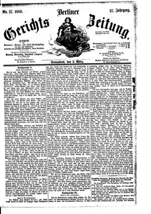 Berliner Gerichts-Zeitung vom 02.03.1889
