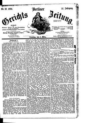 Berliner Gerichts-Zeitung vom 05.03.1889