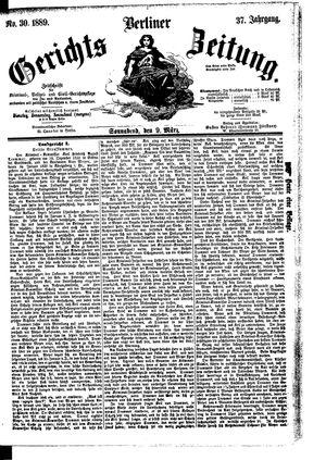 Berliner Gerichts-Zeitung vom 09.03.1889